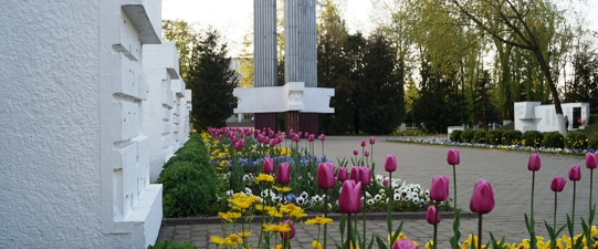 Памятник погибших воинам в сквере на пл. Маяковского