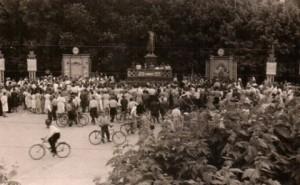 Митинг, посвященный дню советской молодежи